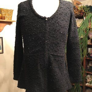 SALE ITEM Black with Silver Kenneth Cole Sweater.M